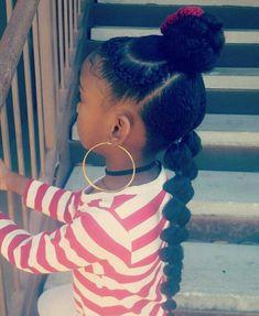 Childrens Hairstyles, Lil Girl Hairstyles, Natural Hairstyles For Kids, Kids Braided Hairstyles, 1950s Hairstyles, Toddler Hairstyles, Hairstyles Videos, Hairstyles 2018, Ghana Braids