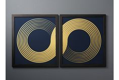 Lisa Hunt, Infinity Diptych on Blue