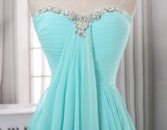 Long pleated chiffon prom dress,A line sweeetheart prom dress,baby blue chiffon long prom dresses,formal evening dress,long homecoming dress
