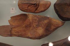Medieval shoe with leaf design, ca. 1300, no further info.