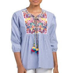 Embroidered Moroccan Top - $29.99