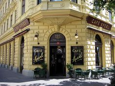 Cafe Sperl in Vennia, Austria. the cafe in before sunset.  Been there twice and can't wait to go again...