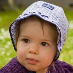 Cappello in cotone bio - scacchi viola e bianchi 14574a3be0d7