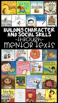 Character education and social skills education is something that elementary classroom teachers can do, too! Through the use of mentor texts, generalize concepts and create a classroom community that your students will thrive in! Preschool Books, Book Activities, Social Activities, Books For Kindergarten, Articulation Activities, Therapy Activities, Social Emotional Learning, Social Skills, Social Practice