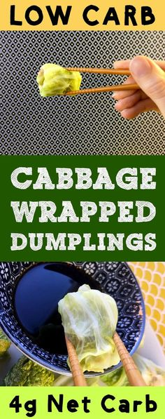 These low carb dim sum dumplings use cabbage for a wrapper, so they only have 1g net carb per dumpling.