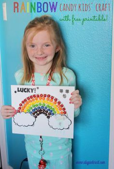St. Patrick's Day Rainbow Candy Kids' Craft with Free Printable!