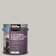 BEHR Premium 1 gal. #MS-79 Silver Gray Pebble Elastomeric Masonry, Stucco and Brick Paint 06801 at The Home Depot - Mobile