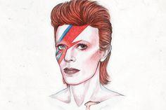 """デヴィッド・ボウイの死を悼む声がソーシャルメディア上に溢れるいま、1点のGIFがある種の「シンボル」となっている。[RIP][David Bowie][イラスト][GIF][WIRED]"""" わたしはデヴィッド・ボウイに、このGIFを捧ぐ""""by @Helengreeen"""