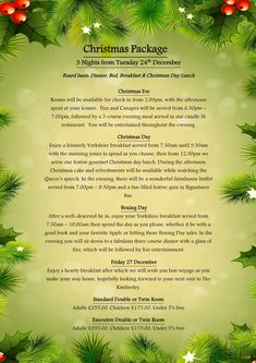 Stay with us over the festive period and let us make your Christmas magical with our Christmas packages! Christmas Day Lunch, Christmas Breakfast, Christmas 2019, Christmas And New Year, Christmas Packages, Mistletoe And Wine, Evening Meals, Period, Festive