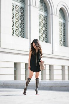 Gladiator :: Statement sandals & Tassel dress