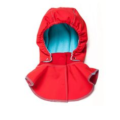 Baby Hood & Neck Warmer - Red-turquoise