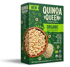 Quinoa Queen Cereal (Unsweetened Organic, 4 Pack) ** More info could be found at the image url. (This is an affiliate link) #healthysnacksamplebox
