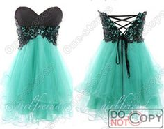 Wholesale 2014 Cheap Summer Elegent Sweetheart Bridesmaid Dresses Turquoise Tulle Black Lace Short Lace Up Back Formal Prom Gowns Under