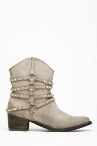 Liliana Strap Studded Cowboy Boots
