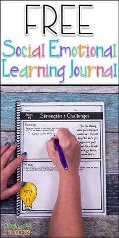 Use this FREE Social Emotional Learning Journal to help kids learn about their own strengths and challenges. This include 5 daily prompts to help kids develop social emotional skills necessary for success.
