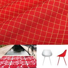Red acts as a strong base or a bold accent in interior designs. Red Interior Design, Red Interiors, Fourth Of July, Red And White, Spirit, Design Inspiration, Strong, Base, Color