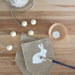 Burlap and Moss Easter Bunny Wreath - House by Hoff