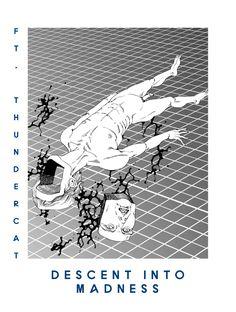 descent into madness flying lotus Arte Horror, Horror Art, Japanese Illustration, Illustration Art, Lotus Artwork, Dark Art Illustrations, Acid Art, Stoner Art, Movie Poster Art