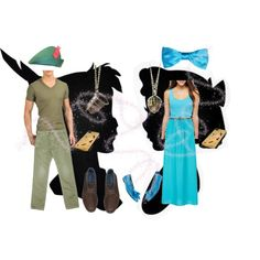 DIY Halloween Couples Costume : Peter Pan & Wendy Darling by tianalynn-lopez on Polyvore featuring polyvore, fashion, style, Arizona, 147 Fashion, Calvin Klein Jeans, Rocket Dog, Martine Wester, KURO and Diesel