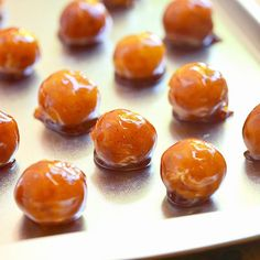 Soft custard candies wrapped in caramel shells. Only three ingredients to make!