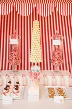 Candyland Dessert Table Ideas.  White truffle tree centerpiece. #shopfesta