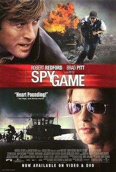 "Brad Pitt and Robert Redford in ""Spy Game"" Hd Movies, Movies To Watch, Movies Online, Movies And Tv Shows, Movie Tv, Game Movie, Buddy Movie, Movies Free, Series Movies"
