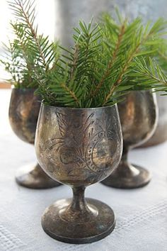 I always save the trimmings from the Christmas tree when I prune it and use them for decorations - this is a wonderful way to use a few snippings, and carry the fresh fragrance into other areas of the home~