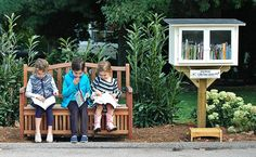 Little Free Library - An organization that promotes literacy by setting up a network of small free libraries in people's front yards. I would love to do this!