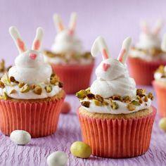 Spring Bunny Pistachio Cupcakes from Land O'Lakes