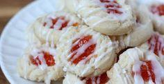 Almond Shortbread Thumbprint Cookies