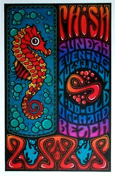 old orchard 94 Phish Posters, Cool Posters, Concert Posters, Music Posters, Old Orchard Beach, Music Film, Graphic Design Posters, Fireworks, Psychedelic