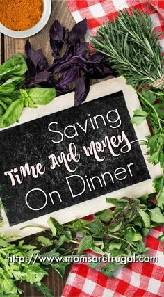 Saving money on dinner is important, but dinners also need to be quick.