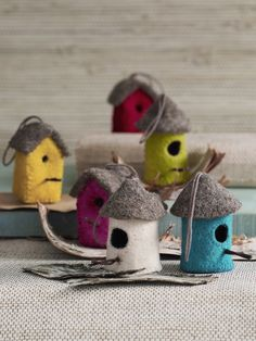 felt birdhouse onmaments