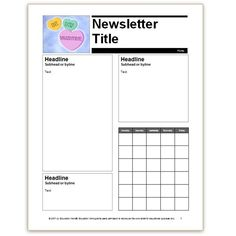 This editable newsletter template is perfect for weekly/monthly ...