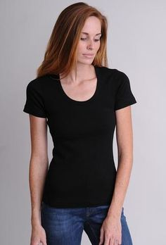 Tops and tees in the Three Dots Fitted Collection are narrower through the body for a slim look. Three Dots, Basic Style, Eileen Fisher, Summer Looks, Spring Fashion, Tee Shirts, Clothes For Women, Long Sleeve, Fitness