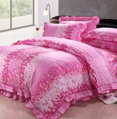 Rural style 100% cotton lace bedding set / bedding suit
