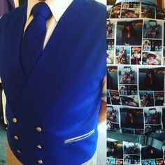 Another happy client with bespoke double breasted blue waistcoat,hand made tie and very personalised back of the waistcoat.#stylist #funky #dandy #cool #dapper #tailor #sussex #brighton #fashion
