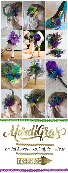 Mardi Gras Wedding Theme ideas and inspiration, with Pantone Colour of the Year 2018 Ultra Violet Purple. Mardi Gras outfits, accessories, headpieces, flower girl dresses and other wedding planning tips #mardigras #ultraviolet #colouroftheyear #pantonecolouroftheyear2018 #mardigrasoutfits #mardigrascarnival #mardigrasideas #weddings #bride #bridesmaids #flowergirls