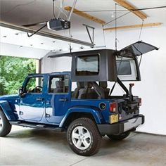 Harken Hard Top Hoist Kit for Jeep Wrangler YJ, TJ, JK) I want this exact color! Jeep Rubicon, Jeep Wrangler Camping, Jeep Wrangler Hard Top, Jeep Hard Top, Jeep Wrangler 4 Door, Jeep Wrangler Sahara, Jeep Jku, Accessoires De Jeep Wrangler, Accessoires Jeep
