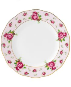 Royal Albert Dinnerware, Old Country Roses Pink Vintage Bread and Butter Plate - Fine China - Dining & Entertaining - Macy's Bridal and Wedding Registry
