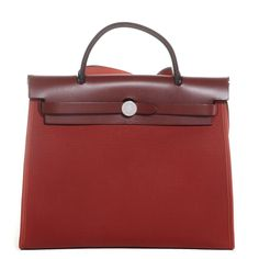 214703f4e63 HERMES Toile Herbag Zip 31 PM Rouge H. Sacos Hermes