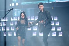 Shawn Mendes Photos - Singers Camila Cabello (L) and Shawn Mendes perform onstage during the People's Choice Awards 2016 at Microsoft Theater on January 6, 2016 in Los Angeles, California. - People's Choice Awards 2016 - Roaming Show