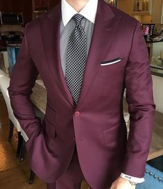 Maroon suit for men