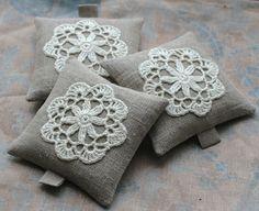 Lavender sachets  crochet motif  set of 3 by namolio on Etsy, $24.00