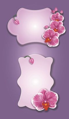 Flower and labels vector 03