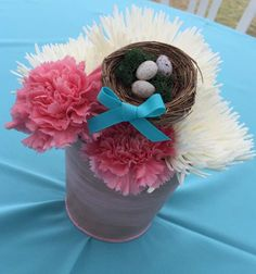 Birds / Feathers / Nest Baby Shower Party Ideas   Photo 5 of 19