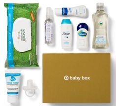 This super-cute box has a little bit of everything, from shampoo to wipes to lotions that help you care for your little one. Extreme Couponing Tips, Baby Samples, Free Samples, Rash Cream, Target Baby, July Baby, Sample Box, Baby Box, Cute Box