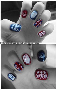Union Jack ♔ Nail Art