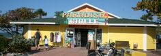 The Paradise Grille is our reception venue!!! The huge patio is right on the beach, running into the ocean!
