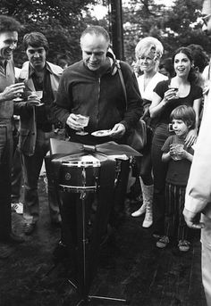 """Marlon Brando, the last day of filming on the set of """"The Godfather"""" (1972)"""